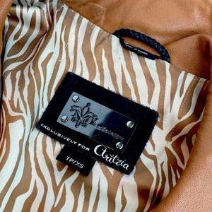 Mackage Camel Kenya Leather Jacket